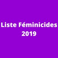 Liste des féminicides 2019