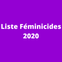 Liste des féminicides 2020
